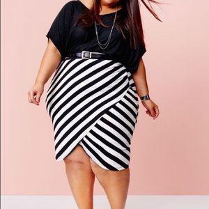 Ava & Viv black and white skirt NWT 4x